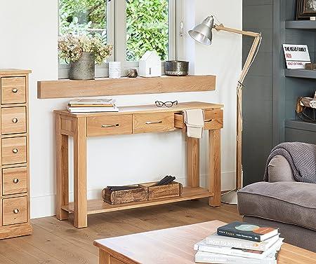 Baumhaus Mobel Oak Console Table