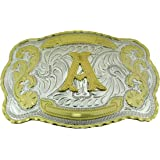 Initial Letters Western Style Cowboy Rodeo Gold Large Belt Buckles