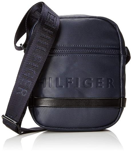 Tommy Hilfiger - Offshore Mini Reporter, Shoppers y bolsos de hombro Hombre, Azul (