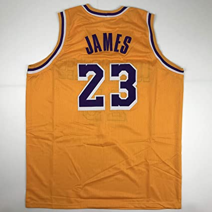 buy online 22574 a188b Unsigned LeBron James Los Angeles LA Yellow Custom Stitched ...