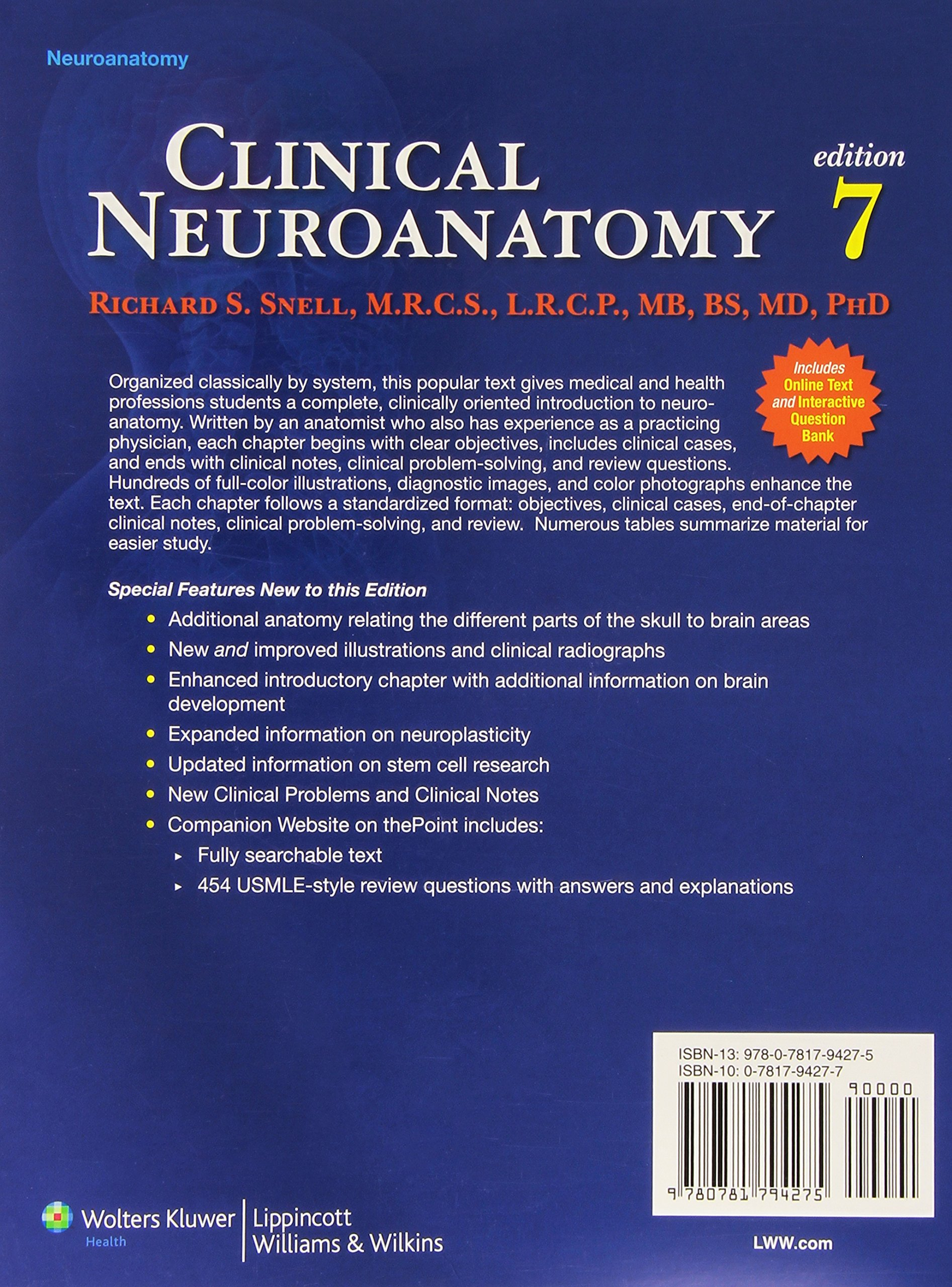 Clinical Neuroanatomy Clinical Neuroanatomy For Medical Students