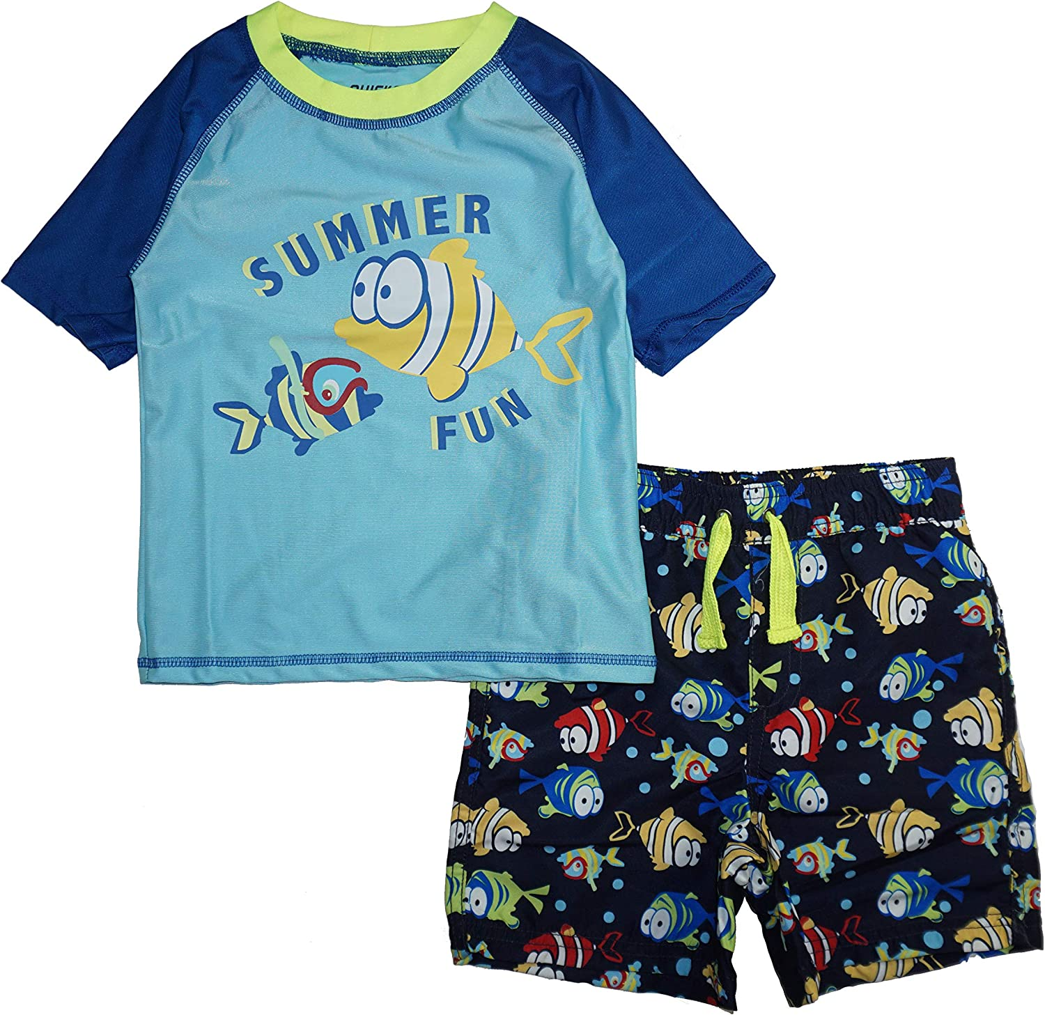 Rash Guard and Swimsuit Trunks Set Quicksand Boys 2-Piece UPF 50