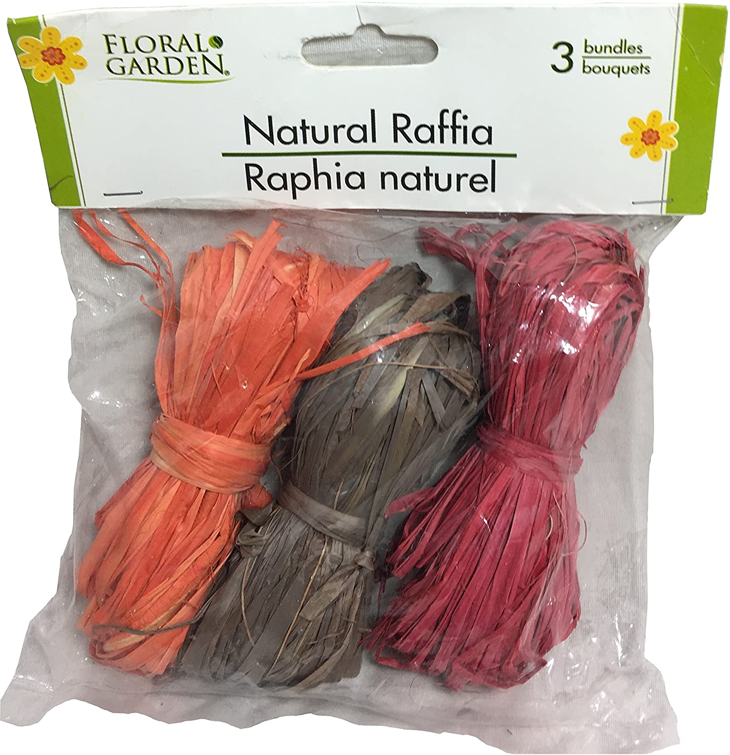 Floral Garden Natural Raffia, 2 Bags (Autumn Colors)
