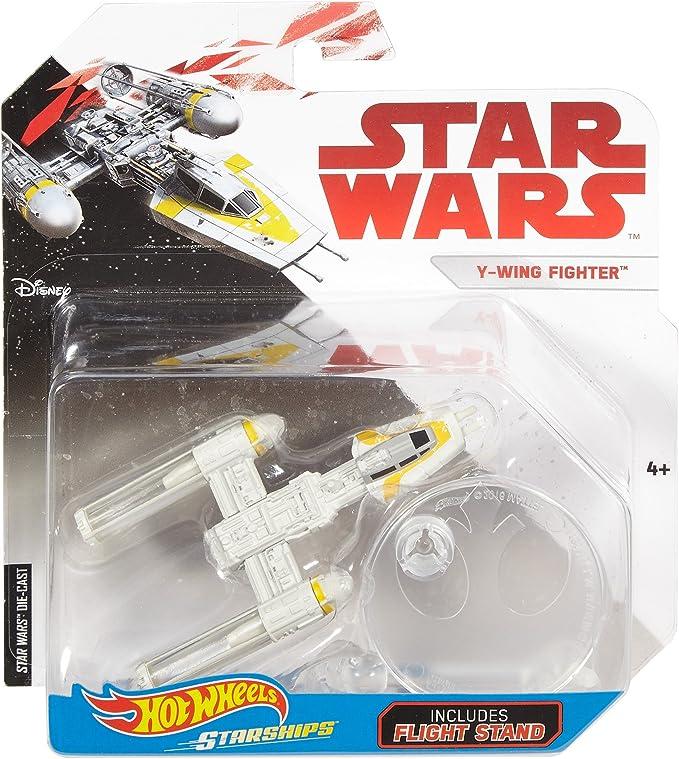 Y WING FIGHTER Gold Leader Star Wars Starships HOTWHEELS 1:64 Diecast Car