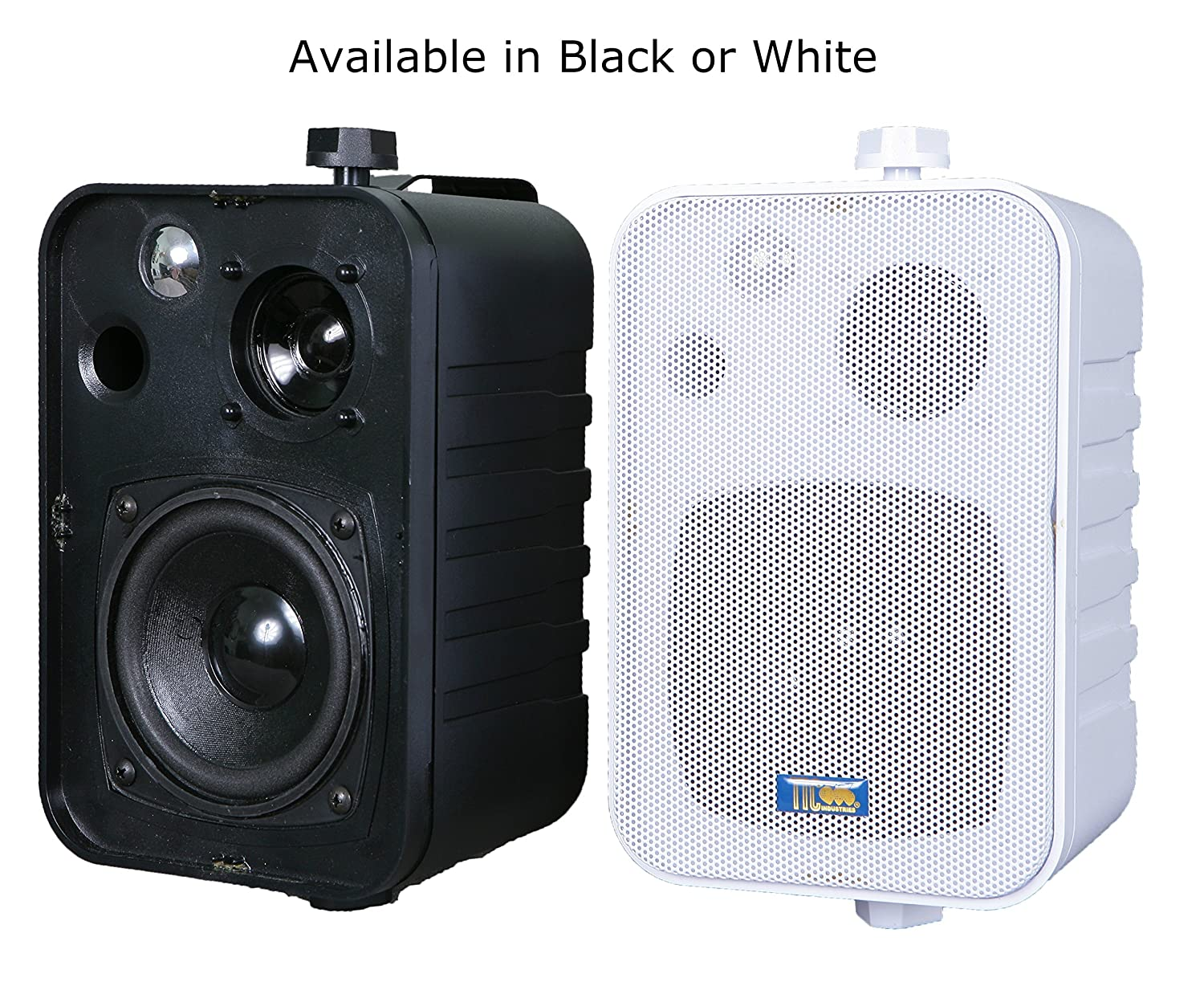 Tic Asp25 W 3 Way Outdoor Weather Resistant Patio 70v Speaker With Volume Control Wiring Diagram Free Download Speakers Pair White Home Audio Theater