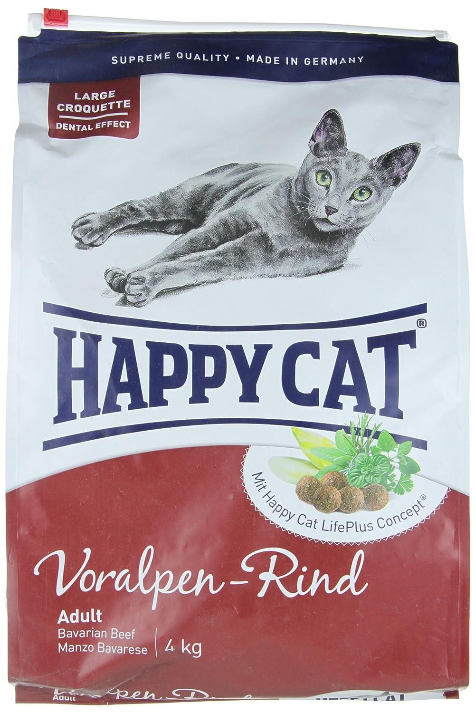 Happy Cat Fit & Well Adult Beef Comida para Gatos - 4000 gr: Amazon ...