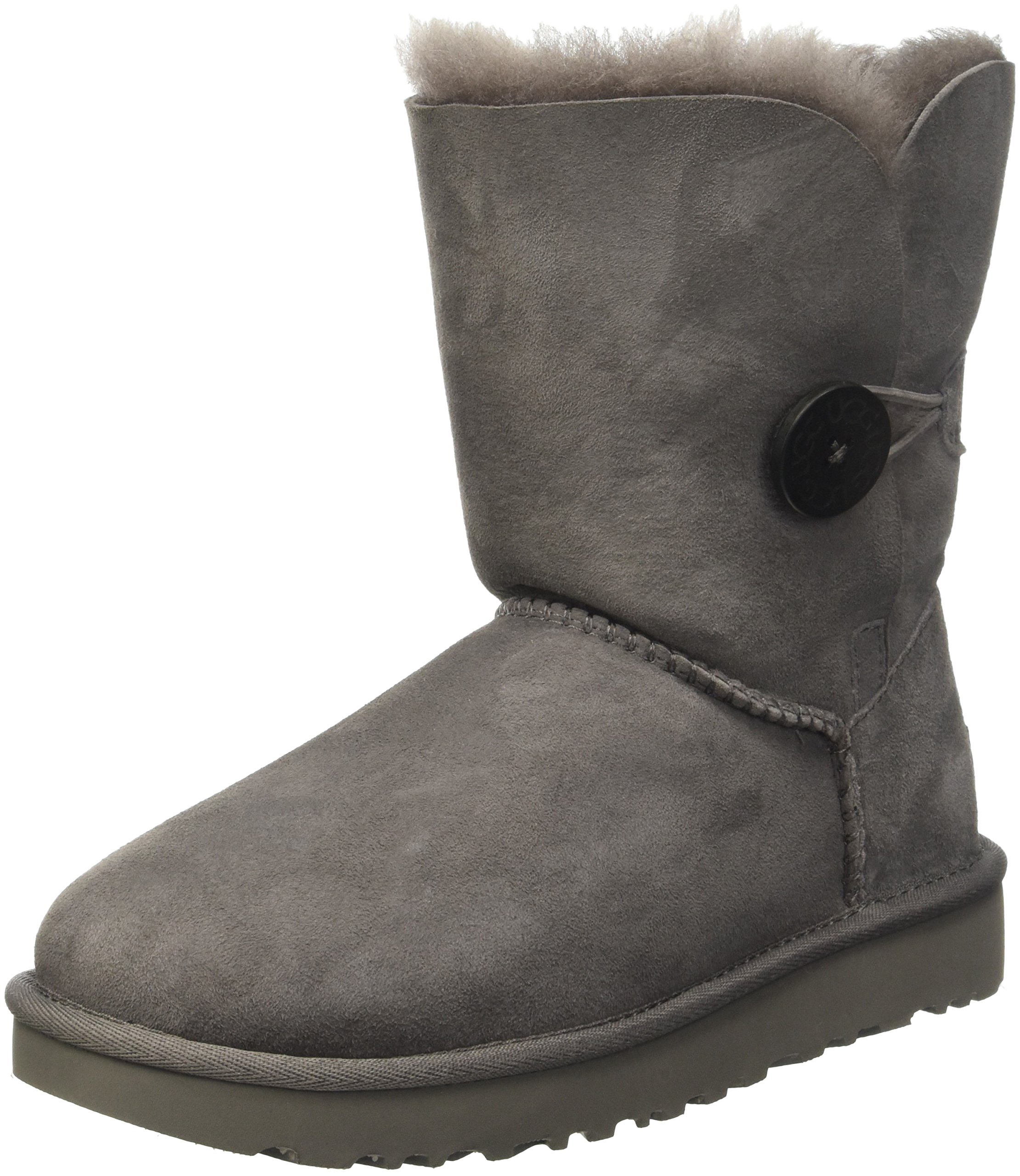 UGG Women's Bailey Button II Winter Boot, Grey, 5 B US