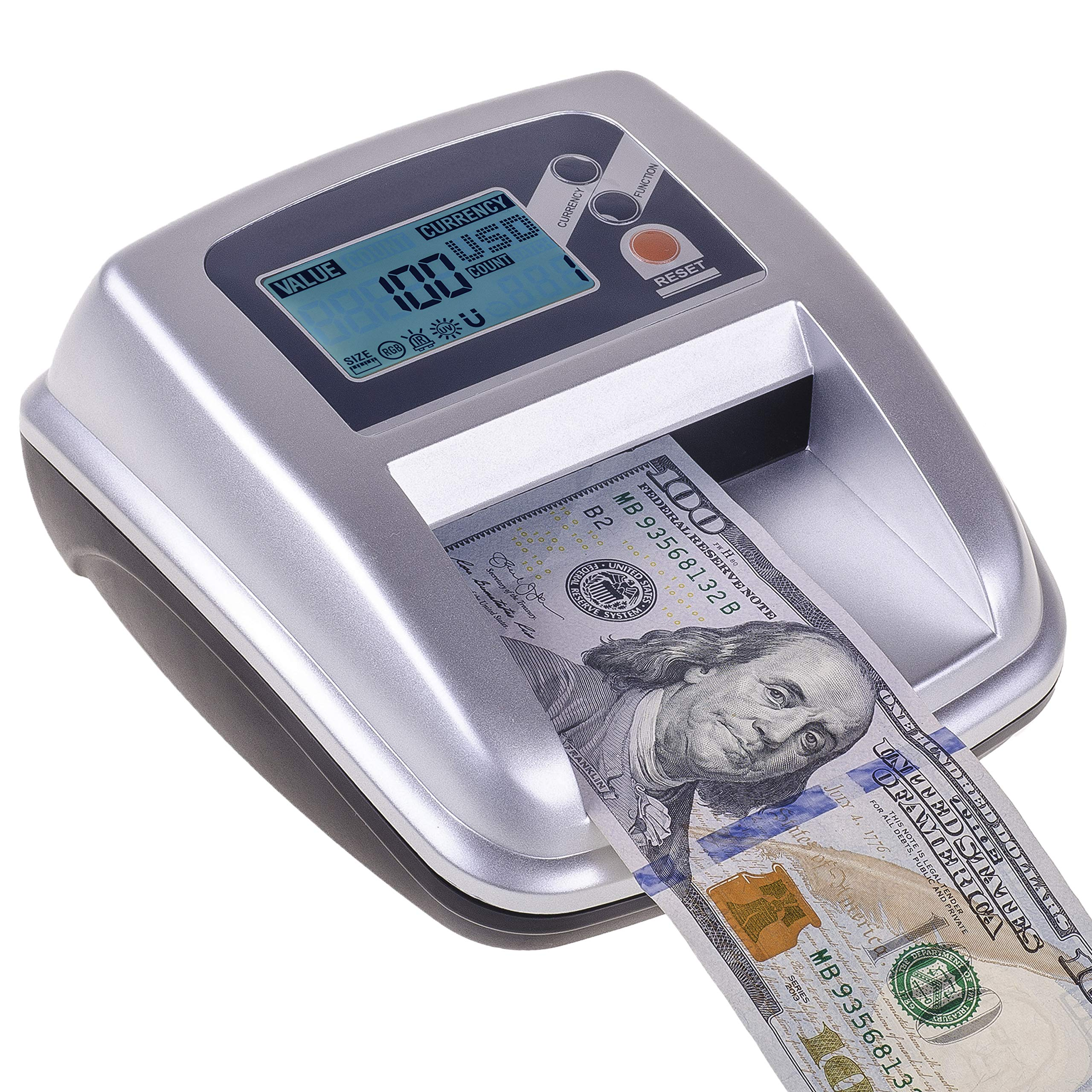 New Counterfeit Bill Detector & Counter with MG/UV/IR/Size/MS Detection.