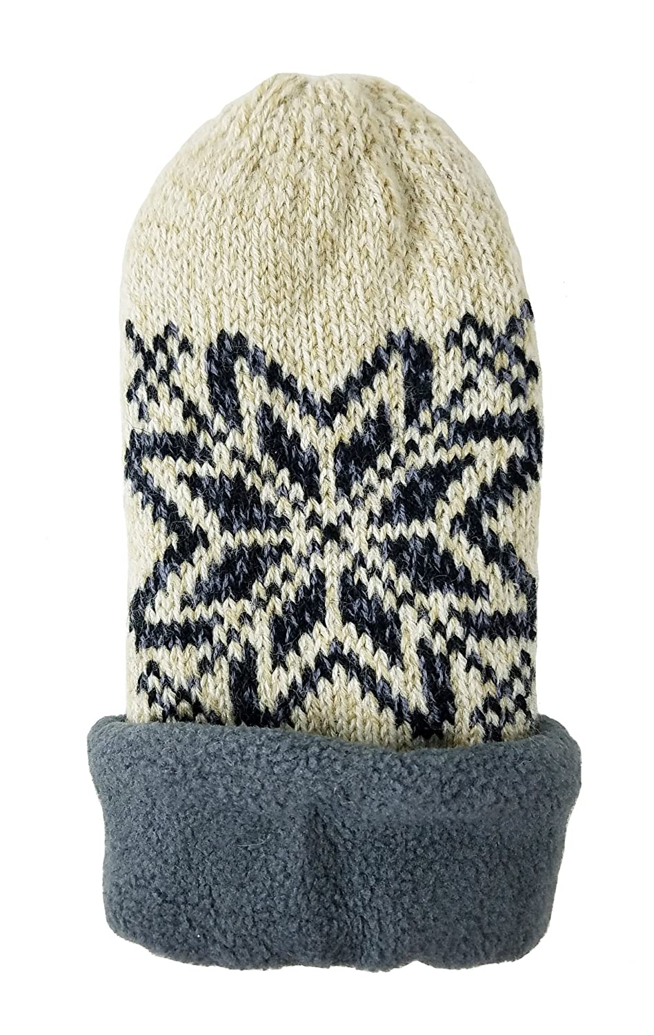 Black Bruceriver Women Snowflake Knit Mittens with Warm Thinsulate Fleece Lining Size S