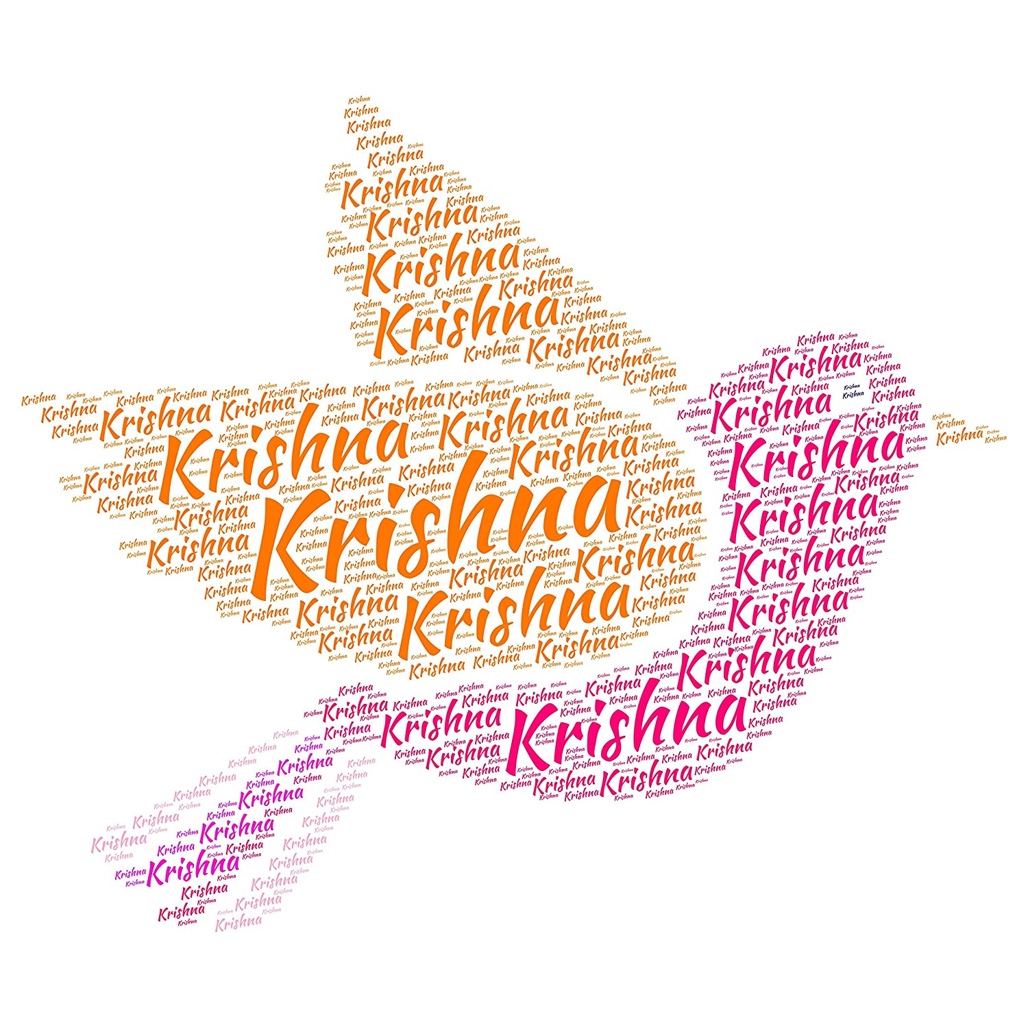 Buy destudio krishna name sticker pvc vinyl film 60 cm x 60 cm x 0 01 online at low prices in india amazon in