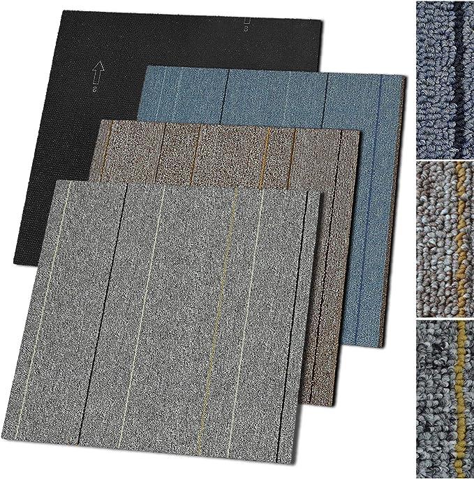 Moquette int/érieur pour bureaux Dalle Moquette casa pura Vienna 14 coloris commerces Moquette autocollante 50x50 cm Bleu - 3m/² = 12 pi/èces