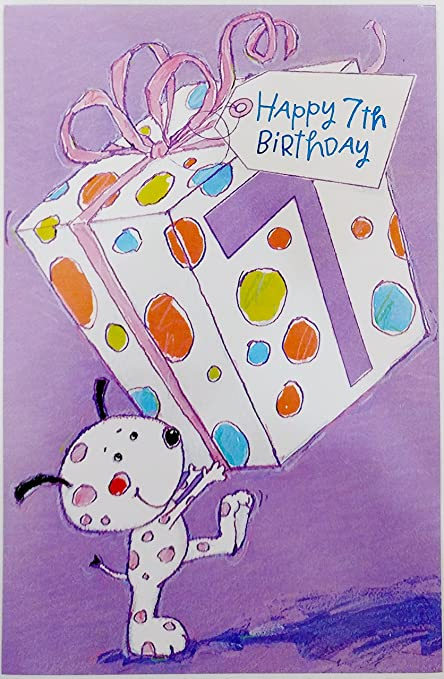 Amazon Happy 7th Birthday Greeting Card Filled With Fun And