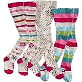 WELLYOU leotardos para bebés/niños, medias para niñas, pantimedias para bebés/niñas, colorido conjunto de 3 medias con…