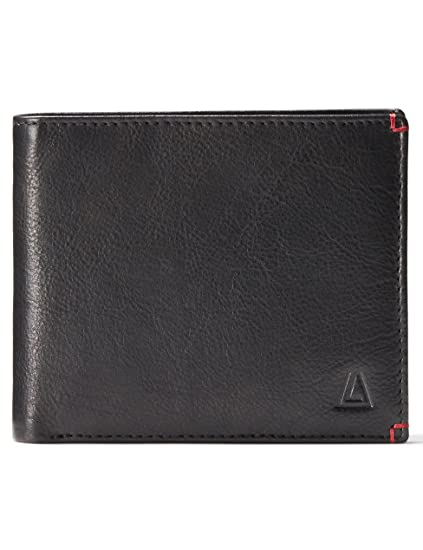 41bdf839153f Leather Architect Men's 100% Leather RFID Blocking Bifold Wallet with Fixed  ID And 15 Credit Card Slots