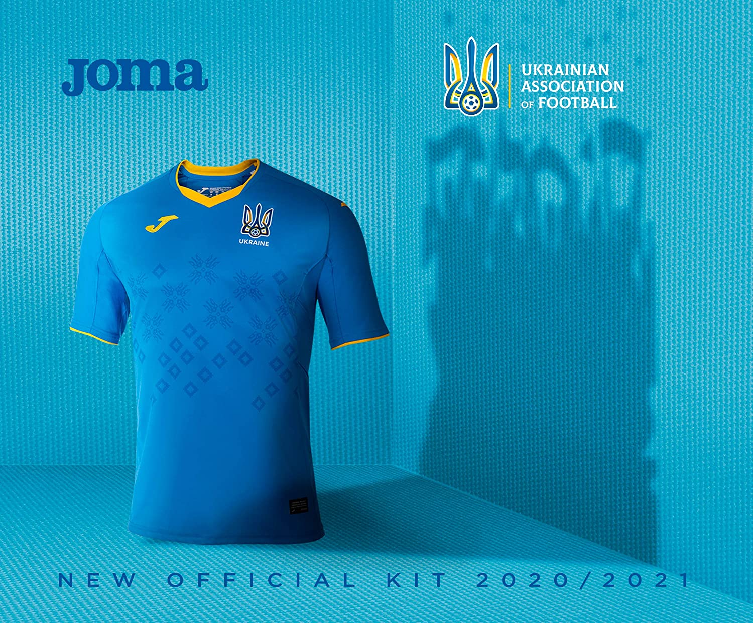 Joma Official 2020//2021 Authentic Ukraine First and Second Match Jersey