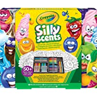 Silly Scents Scented Mini Inspirational Art Case Set, 16 Mini Twistables Crayons, 8 Slim and 8 Broad Line Washable Scented Markers, 20 Coloring Pages, gift set, craft