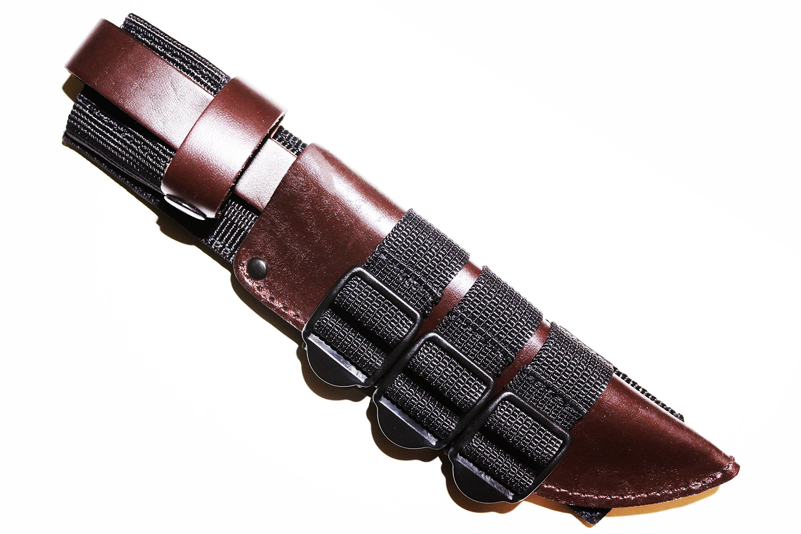 Molle Knife Sheath Adapter Holder/Attaching Knife to M.O.L.L.E. Webbing/Holds Ka-bar Bowie Kydex Leather Sheaths/Molle Sheath Carrier for Fixed-Blade Knifes/Black Color/Fits Sheaths from 4'' up to 12''