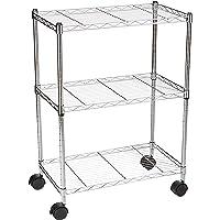AmazonBasics 3-Shelf Shelving Unit on Wheels