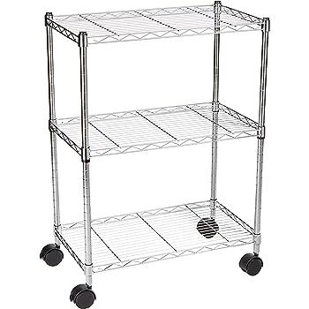 amazon com seville classics 4 tier ultrazinc steel wire heavy duty adjustable storage shelves Metal Shelving