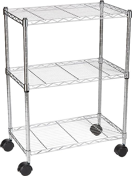 Amazon Basics 3-Shelf Heavy Duty Shelving Storage Unit on 2