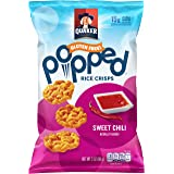 Quaker Popped Rice Crisps Snacks, Gluten Free, Sweet Chili, 3 Ounce