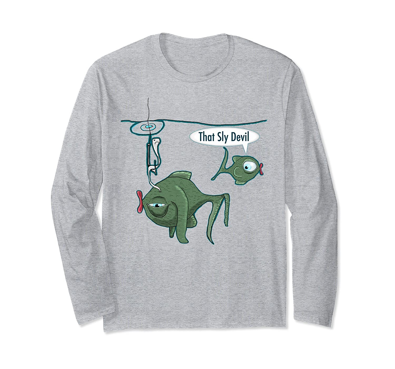 'That Sly Devil' Lucky Fishing Long Sleeve T-Shirt-mt