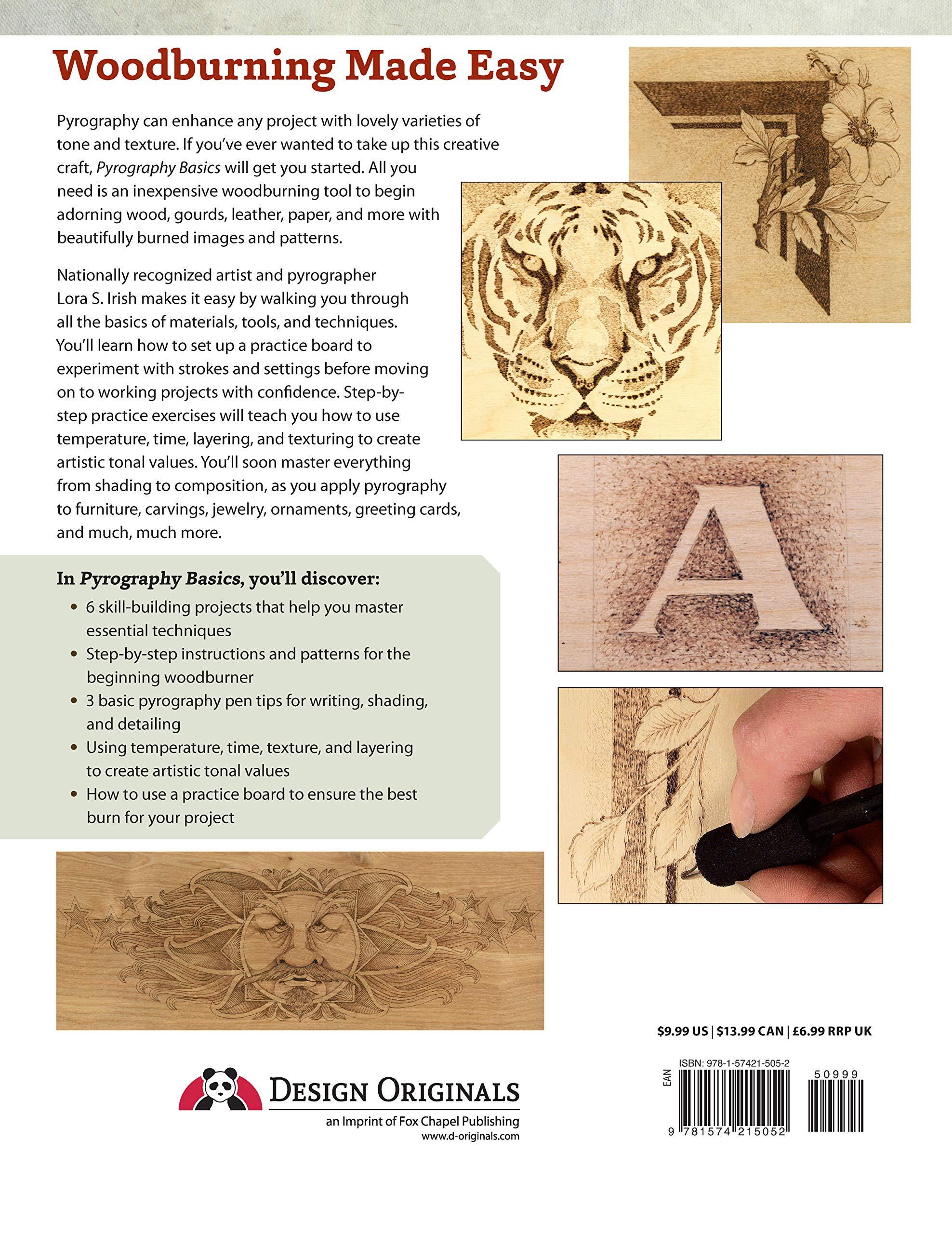 Pyrography Basics: Techniques and Exercises for Beginners: Amazon.es: Lora S. Irish: Libros en idiomas extranjeros