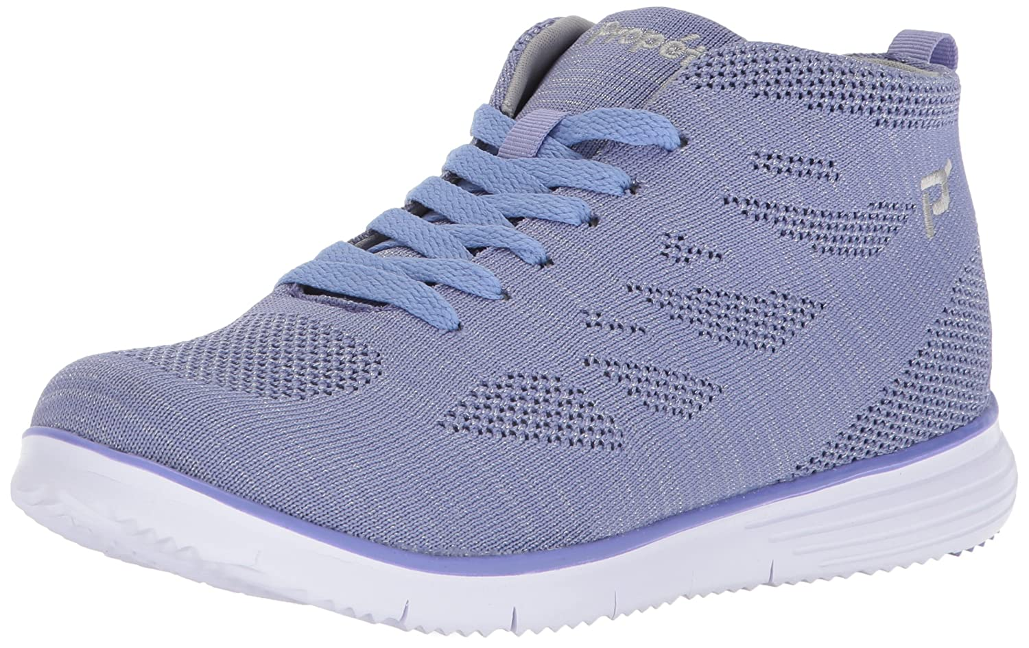 Propet Women's TravelFit Hi Walking Shoe B073DPKW2W 11 N US|Purple/Silver