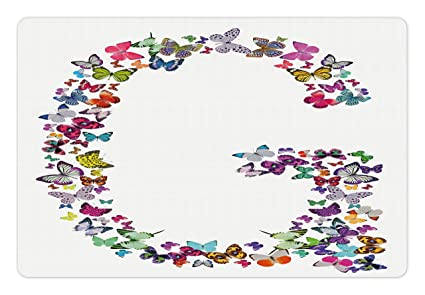 Amazon letter g pet mats for food and water by ambesonne letter g pet mats for food and water by ambesonne exotic colorful butterflies in the thecheapjerseys Images