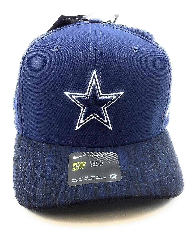 Nike Swoosh Flex Dallas Cowboys Classic99 Baseball Hat Low Profile Caps M//L, Navy//Black