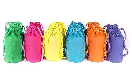 amazon com neliblu canvas drawstring favor gift bags bulk set of 12