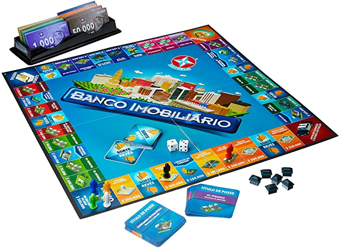 BANCO IMOBILIARIO, JUEGO DE JUEGO DE JUEGO, Portugués y Brasileño: Amazon.es: Juguetes y juegos