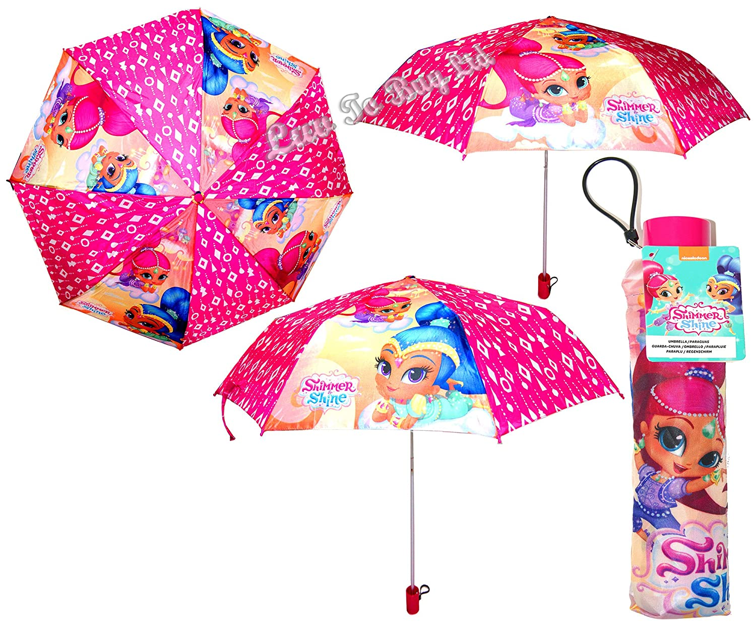 Amazon.com | Umbrella, Shimmer & Shine Extendable Umbrella, Kids Umbrella, Officially Licensed | Umbrellas