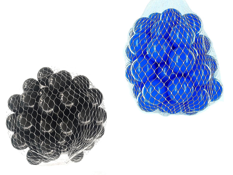 100 Bälle für Bällebad gemischt mix mit blau und schwarz mybällebad