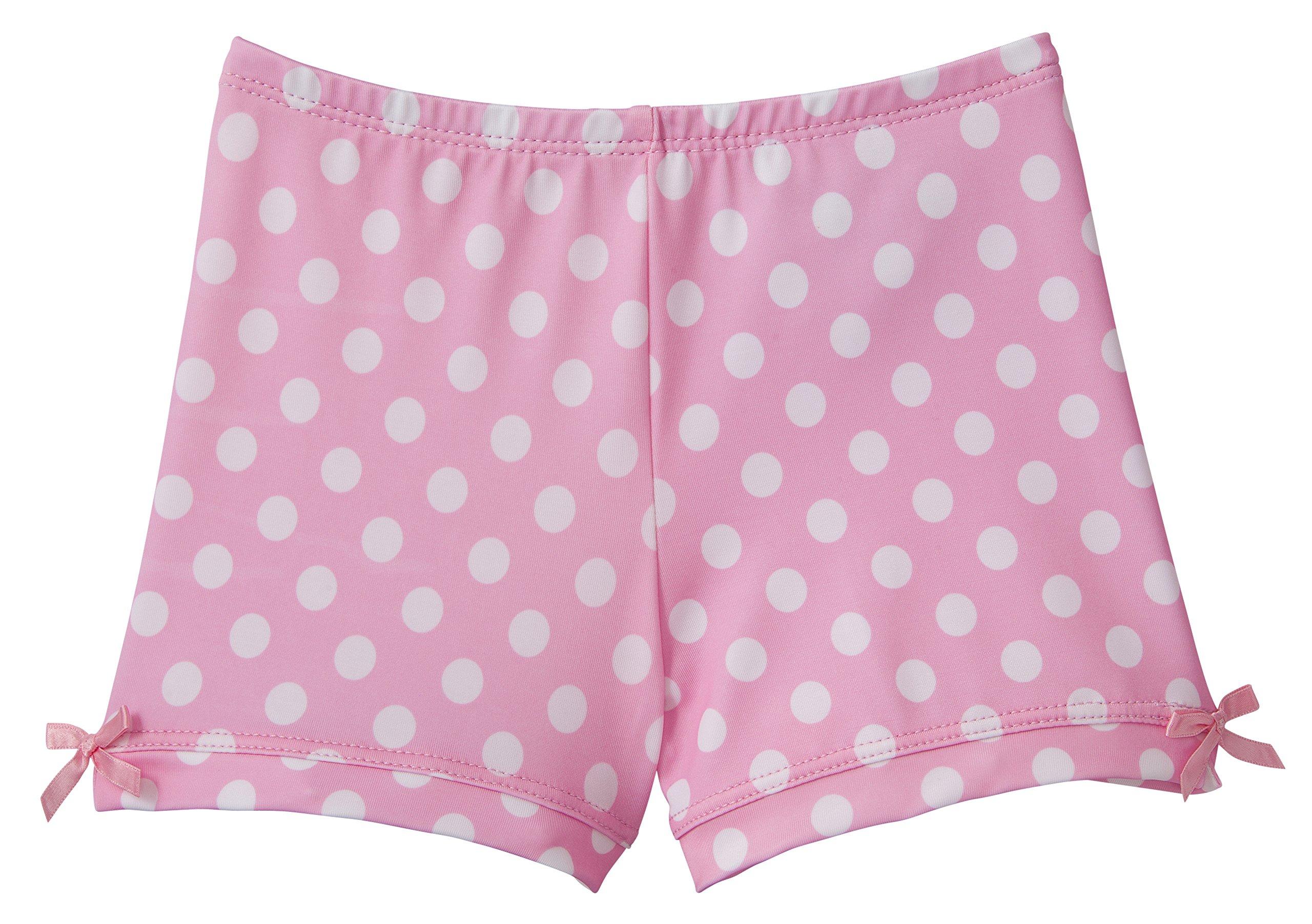 Monkeybar Buddies Worry-Free Girl's Playground Shorts, Nylon and Spandex Blend, Size 6X, Polka Dotty