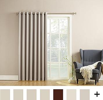 Amazon.com: Sun Zero Becca Energy Efficient Patio Door Curtain ...