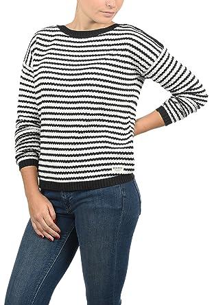 58b4adbc31 DESIRES Hilde Damen Winter Strickpullover Troyer Grobstrick Pullover,  Größe:XS, Farbe:Black