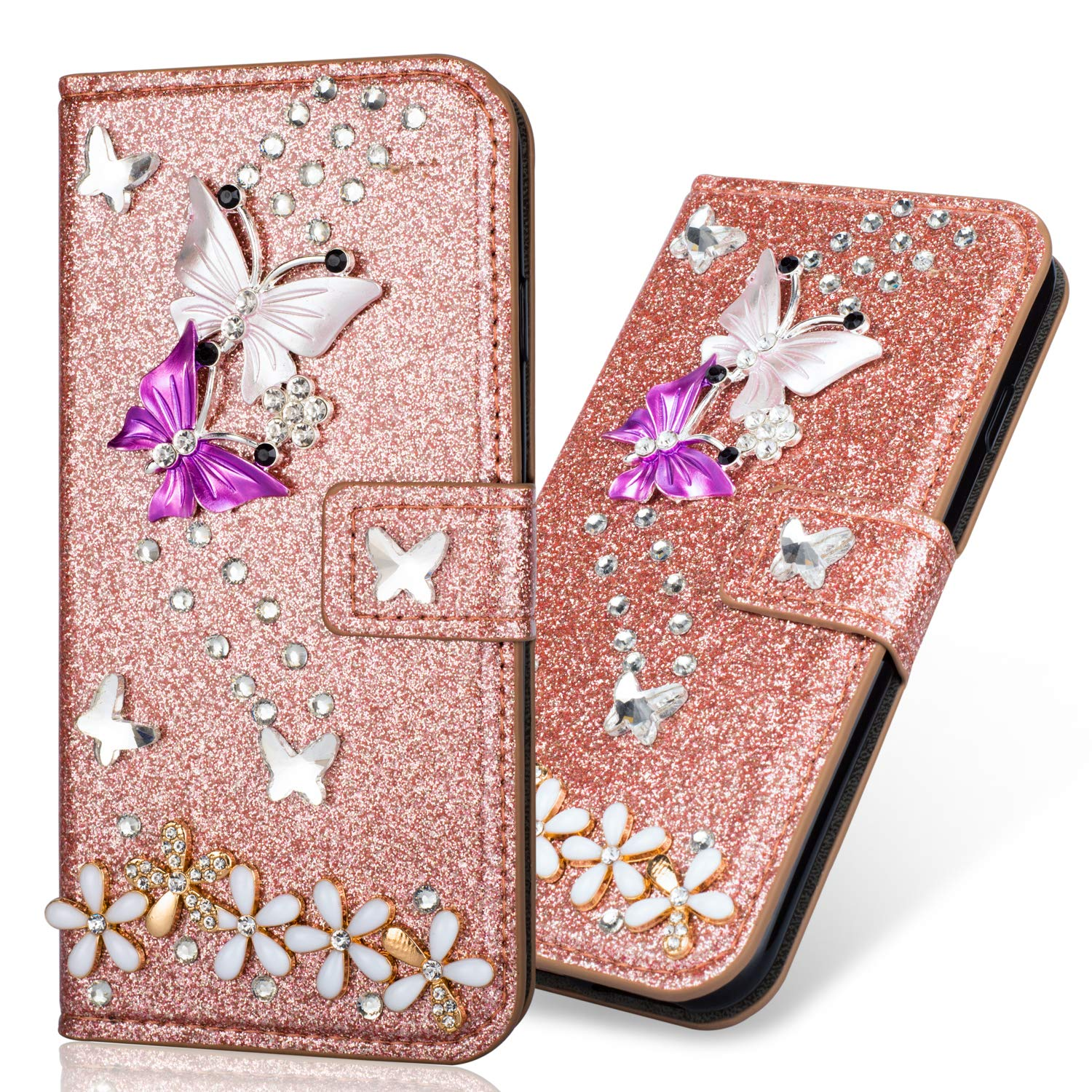 Bling Wallet Sparkle Glitter Diamond Compatible with Samsung A20e