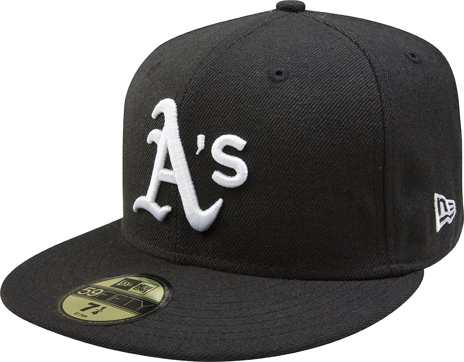 Amazon.com   New Era MLB Black with White 59FIFTY Fitted Cap   Sports    Outdoors 973fb4d7c0c
