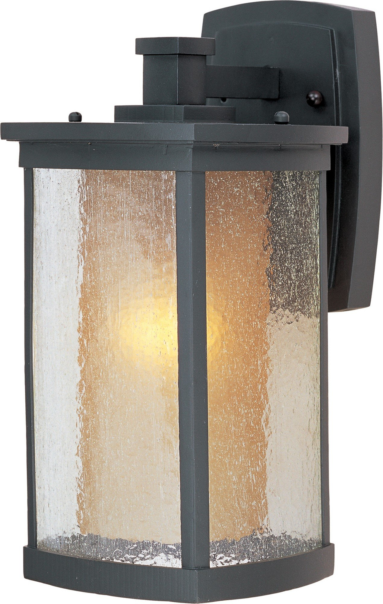 Maxim 3153CDWSBZ Bungalow 1-Light Wall Lantern, Bronze Finish, Seedy/Wilshire Glass, MB Incandescent Incandescent Bulb , 60W Max., Dry Safety Rating, Standard Dimmable, Glass Shade Material, Rated Lumens