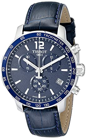 ac1919a2ffb Image Unavailable. Image not available for. Color: Tissot Men's  T0954171604700 Quickster Stainless Steel Watch ...