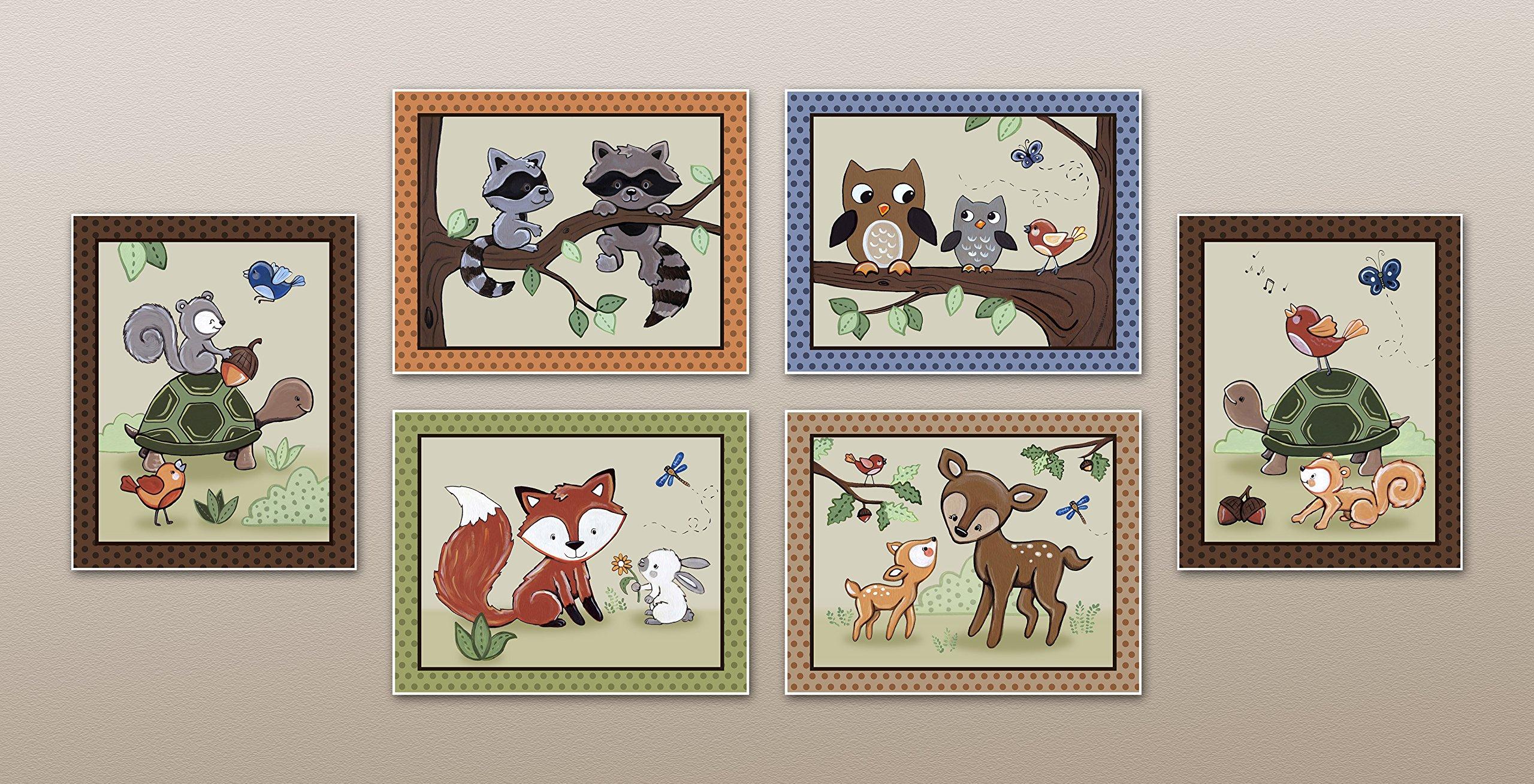 Woodland Animal Tales Nursery Art Prints (8''x10'', (6) Set of Six)