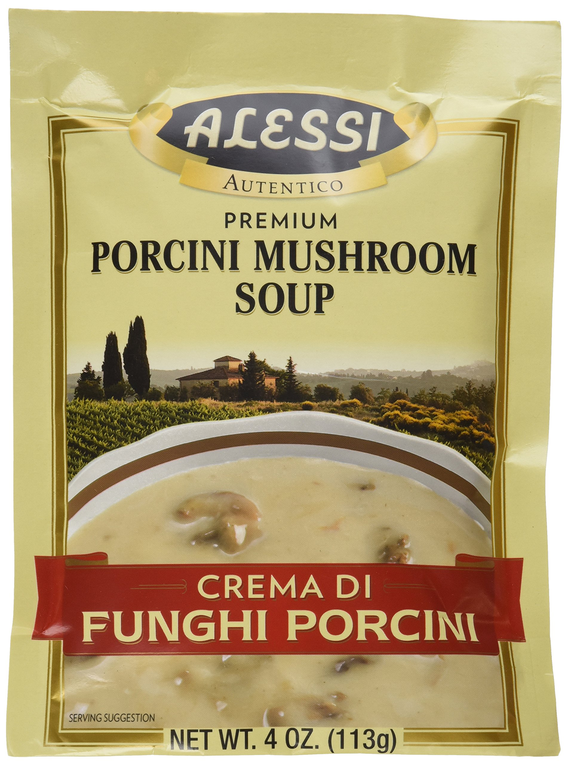 Alessi Porcini Mushroom Soup Mix, 4 Ounce (Pack of 6) by Alessi