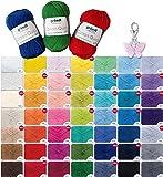Wollset Gründl Cotton Quick 10x50g keine Farbwahl möglich + 1 Anhänger Schmetterling