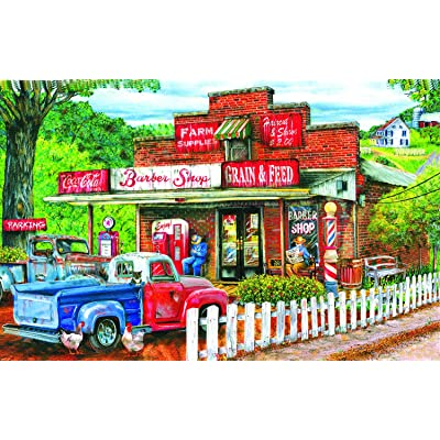 Saturday Morning at The Shop 1000 pc Jigsaw Puzzle by SunsOut: Toys & Games