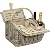 Red Hamper Unisex Boat Fitted Picnic Basket, Brown, Medium/2 Persons