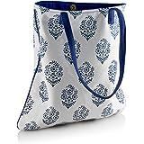 Blue Indian Blatt Entwickelt Tote Bag