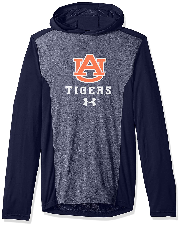 Navy Under Armour NCAA Auburn Tigers Mens NCAA Mens Triblend Hooded Long Sleeve Tee Medium