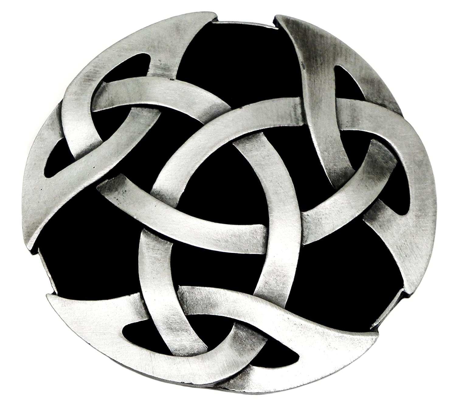 Celtic Knot Belt Buckle 3D Circular Design Authentic Bulldog Buckle Co Branded Product