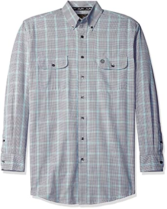 550f4bfd Wrangler Men's Big and Tall Big & Tall George Strait Two Pocket Long Sleeve  Button Shirt
